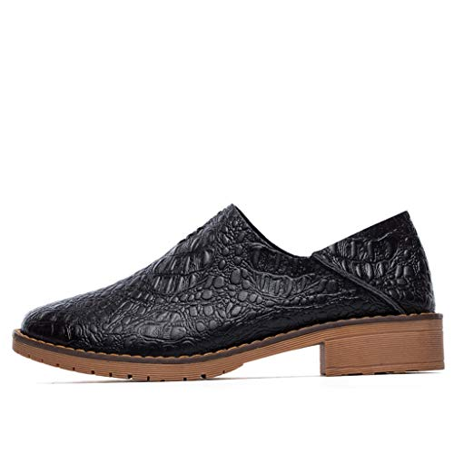 ANJUNIE Women's Hand-Made Shoe Increased Soft Oxfords Leisure Sneaker Lazy Shoes