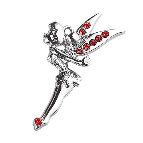 New Hot DIY Whoelsale Cute Red Crystal Angel Fairy 10pcs Charms Pendants K67-B-3 ()