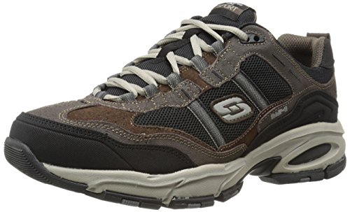 Memory Brown Foam Sport Men's black Brown Skechers Trait Us 0 10 black 2 M Vigor Sneaker YBwxw60