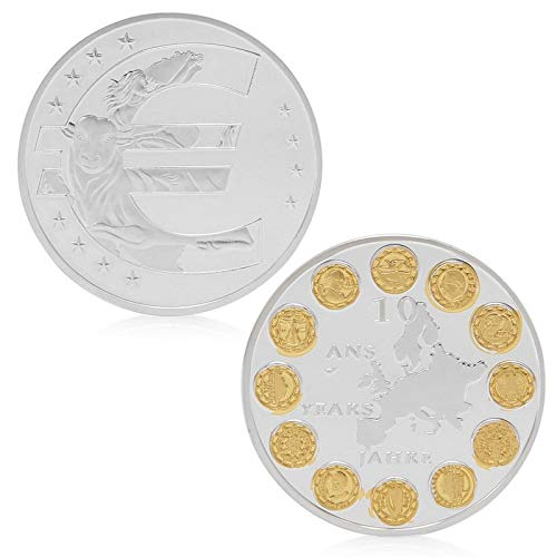 Poker Set Commemorative (Token Coin - Eu 12 Countries Member Silver Plated Commemorative Challenge Coin Physical Token - Coin Metal Coins Token Holder Currency Coins Ancient Coin Poker Commemorative Token World Count)