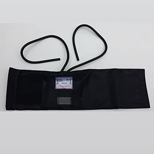 Brand New Adult Blood Pressure Fabric Hook Cuff with 2 Tube Bladder Inflation Bag