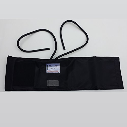 Brand New Adult Blood Pressure Fabric Hook Cuff with 2 Tube Bladder Inflation Bag (Inflation Bladder)