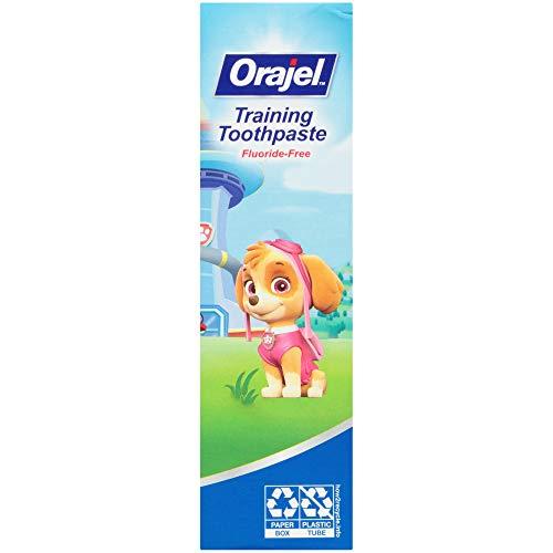 41DekM%2BGkvL - Orajel Paw Patrol Fluoride-Free Training Toothpaste, Fruity Fun Flavor, One 1.5oz Tube: Orajel #1 Pediatrician Recommended Brand For Kids Non-Fluoride Toothpaste