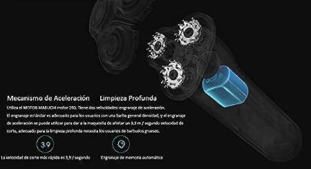 Xiaomi original Afeitadora rotativa de 3 cabezales para hombre, IPX7 resistente al agua, afeitado húmedo y seco, carga rápida para caso urgente, larga ...