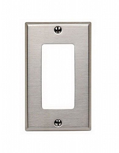 (Leviton 84401-40 1-Gang Decora/GFCI Wallplate, Stainless Steel (6 Pack))