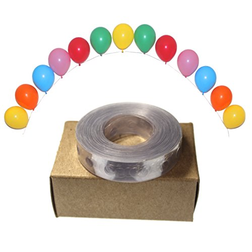 Skipsi 16ft Balloon Arch Decoration Banner Balloon Tape, 6mm Holes