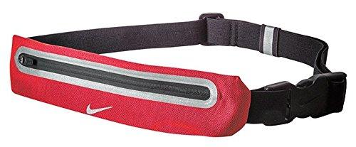 Black//Crimson Unisex RN8001-600-F Nike Expandable Running Lean Waistpack