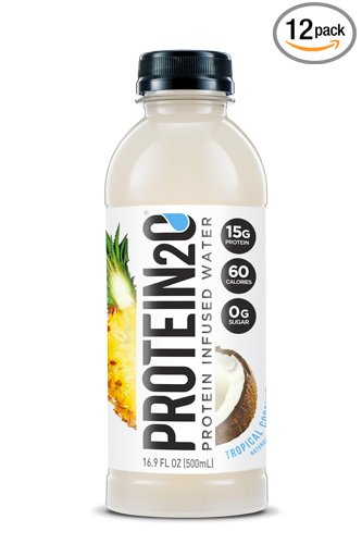 Protein2o Low Calorie Protein Infused Water, 15g Whey Protein Isolate, Tropical Coconut (16.9 Ounce, Pack Of 12) (Best Quality Coconut Water)