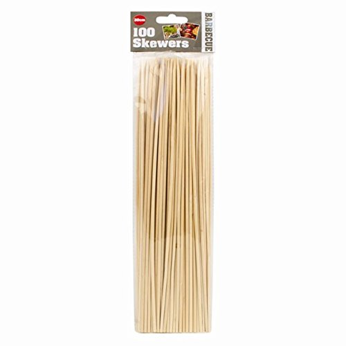 100 x Bamboo Wooden BBQ Grill Barbecue Kebab Meat Vegetable Skewers Sticks The Home Fusion Company