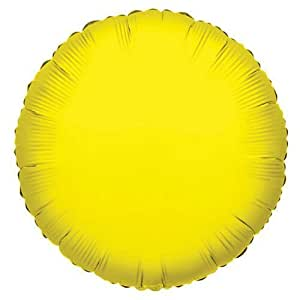 "Kaleidoscope Yellow Round Foil Mylar Balloon, 18"", Pack of 5"