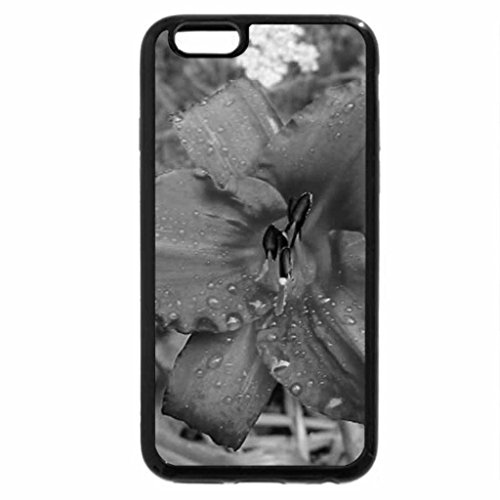 iPhone 6S Case, iPhone 6 Case (Black & White) - DEW COVERED DAY LILY