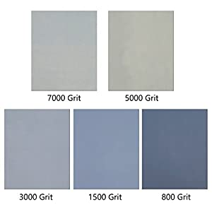 Coceca 15pcs 9 x 11 inch High Grit Wet and Dry Sandpaper Assortment 800 1500 3000 5000 7000 for Car