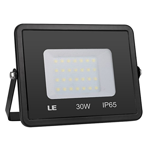 LE Outdoor LED Flood Light, IP65 Waterproof, 30W 2400LM, 75W HPS Bulb Equivalent, Daylight White 5000K, 100 Degree Beam Angle, Security Light for Home, Backyard, Patio, Garden and More