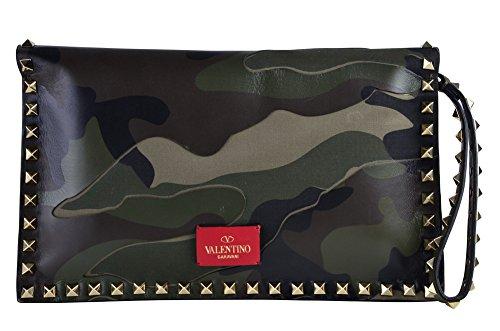 Valentino Tasche Damen Grün Leder Clutch-Taschen Keine Angabe