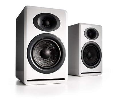 Audioengine P4 White Pr 2 Way Passive Bookshelf Speakers AP4W