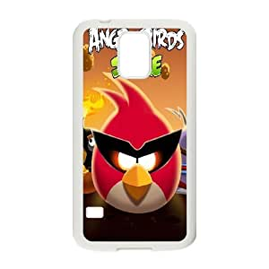 Samsung Galaxy S5 Case the Angry Birds Space, Bloomingbluerose, {White}