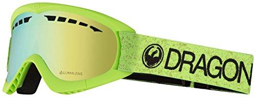 Dragon Alliance DXs Ski Goggles, Green, Green/Luma Gold Ion Lens