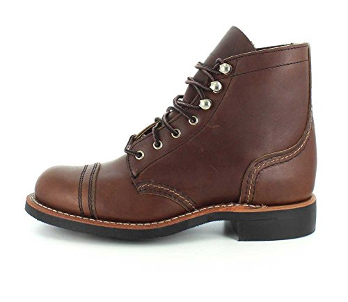Red Wing Womens Iron Ranger 3365 Leather Boots Braun (Amber Harness) JqxrUPhQkJ