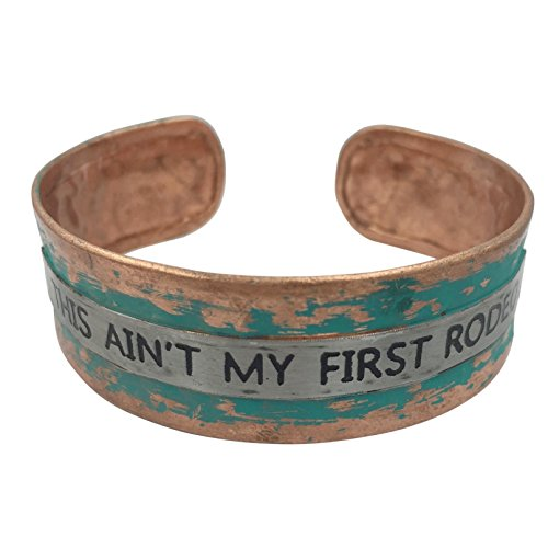 Gypsy Jewels Simple Hammered Cuff Bracelet (This Ain't My First Rodeo Patina Green) ()