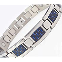 HZX Titanium Magnetic Therapy Adjustable Bracelet Pain Relief for Arthritis and Carpal Tunnel. Magnets ,Far Infrared,Germanium, Negative Ion As Healthcare Functional Elements Embedded In Each Bracelet Good to Your Health No Stimulation to The Skin Not Allergies New Year Valentines Day Gift