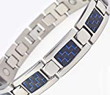 HZX Titanium Magnetic Therapy Adjustable Bracelet Pain Relief for Arthritis and Carpal Tunnel