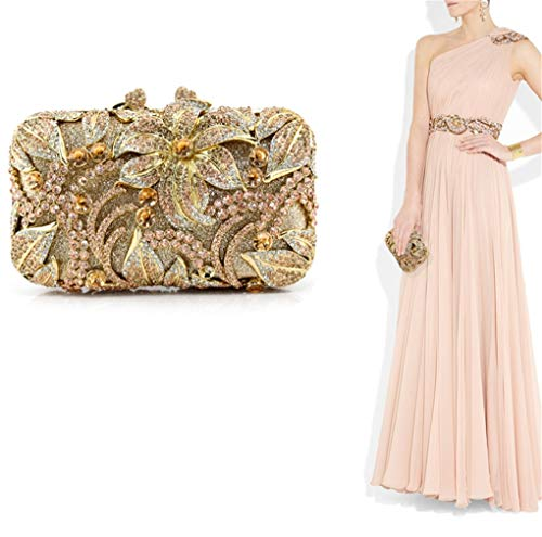 Party dazzling Dress Evening Gold Purse Diamante Crystal Clutch Encrusted A Handbag Bag xRvnwSnq7