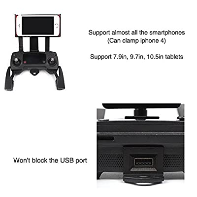 O'woda Cellphone/Tablet Mount Holder Adjustable Extended Bracket with Controller Neck Lanyard for DJI Spark/Mavic Pro/Mavic Air Remote Controller Accessories (Not for Mavic 2 Pro): Camera & Photo