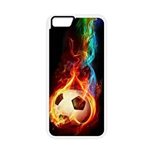"""Custom Colorful Case for Iphone6 Plus 5.5"""", Fire Soccer Ball Cover Case - HL-R661335"""