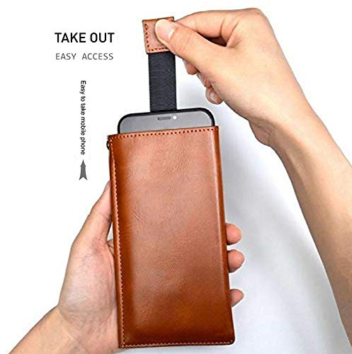 Realtech Rich Leather Mobile Pullup Pouch with Wallets Case Cover for OnePlus 9 - Black 2021 July ★ Made Of Genuine PU Leather Which It Is Soft & Smooth. ★ Big Enough To Carry What You Need, Perfect For Hiking Or Day Trips Or Walking The Streets. ★ Keep Mobile & Passport In This Wallet. Even Can Put Slim Power Bank Also As Well As Almost 5+ Cards.