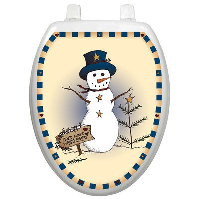 Toilet Tattoos Americana Snowman Design Toilet Seat Applique