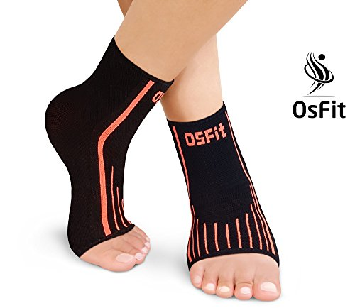 OsFit Fitness E Premium Foot Care Compression Sleeve, 1 Pair...