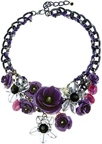 HoBST Flower Statement Necklace Pendant
