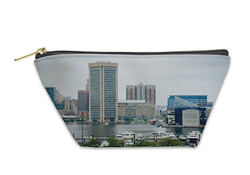 Gear New Accessory Zipper Pouch, View Of The Inner Harbor From Federal Hill Park In Baltimore M, Large, - Harbor Inner Stores