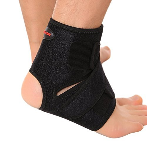 Liomor Ankle Support Breathable Ankle Brace for Running Basketball Ankle Sprain Men Women - L/XL, Black