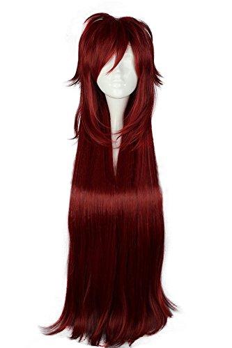 Mtxc Black Butler Cosplay Grell Sutcliff Wig Dark Red