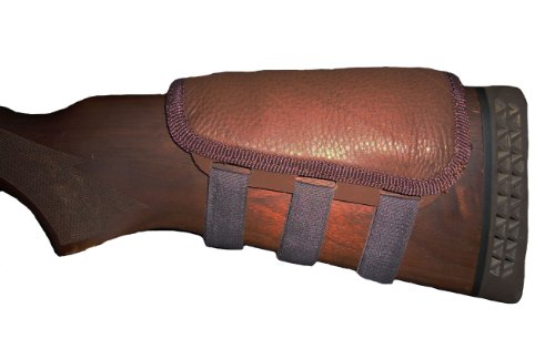 (ITC Rifle Cheek Pad/Cheek Riser/CheekRest Marksmanship/Chocolate Brown Leather)