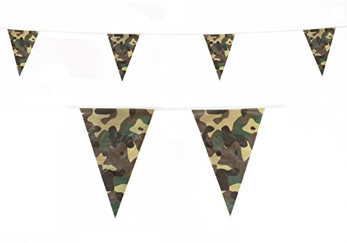 Camo Print Party Flags Camouflage Banner Decoration by Gabby Fun Corp
