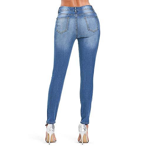 Haute Pantalon Pantalon Haute Rosegal ajust Fit Taille Jeans Crayon Bleu Taille Dchir Slim Slim et Pantalon SdBXBw7