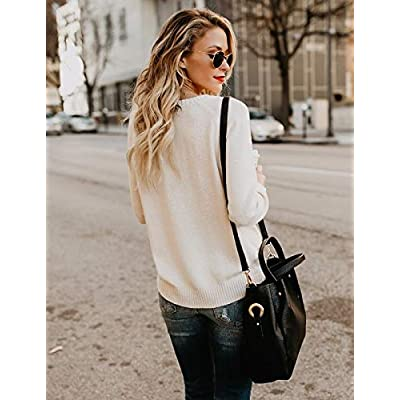shermie Women's Pullover Sweaters Long Sleeve Crewneck Cute Heart Knitted Sweaters at Women's Clothing store