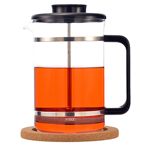 GROSCHE Mombasa Premium French Press 1500ml / 51oz with Stainless Steel Press Mechanism and ...