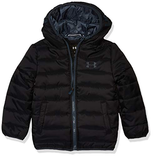 Under Armour Boys' Big Pronto Puffer Jacket, Black F, YMD (Leather Jacket Boys 8 20)