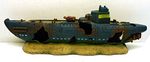 (Large Sunken Submarine Ship Wreck Ruins ON Rocks FantaSea WS052)