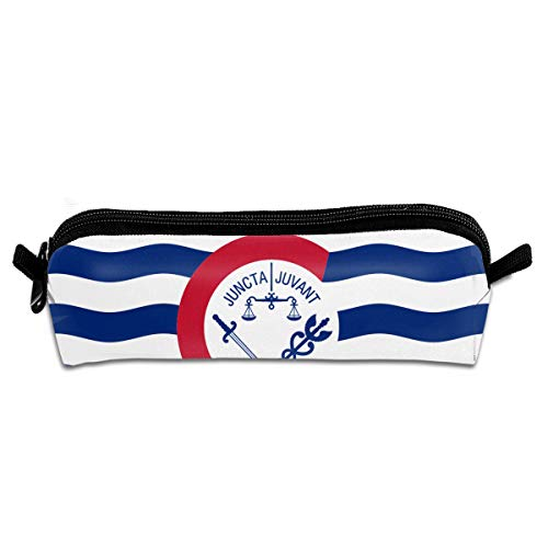 Flag of Cincinnati Perfect Small Pouches-Student Stationery Pouch Bag Office Storage Organizer Coin Pouch Cosmetic -