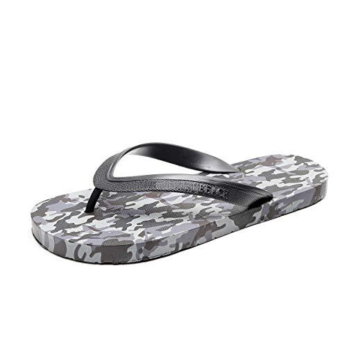 bill.xlong Men's Flip Flop Size 9, Men Thongs Sandals for Beach Comfort Lightweight Blue Camo Slippers Slip on