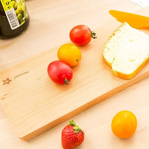 BeesClover 1pcs Cute Square Wood Baguette Board/No Paint Beech Sushi Tray/Kitchen Baking Tools/Home Decoration Show