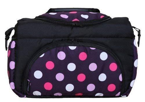 TP-22 Schwarz Lila Pink Kugel Wickeltasche PIA Baby-Joy XXL XXXL /Übergro/ß Windeltasche Pflegetasche Babytasche Tragetasche Farbe