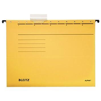 gelb Colorspankarton 5 St/ück Leitz 19853015 H/ängemappe Alpha