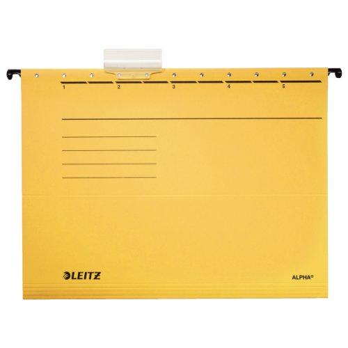 Carpetas colgantes Esselte Leitz 19853015 Alpha color amarillo 5 unidades de cart/ón