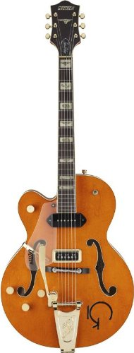 Gretsch G6120 Eddie Cochran Signature Hollow Body Electric Guitar, Left Handed - Western Orange Stain