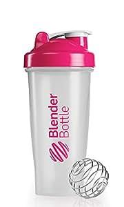 BlenderBottle Classic Shaker Bottle, Clear/Pink, 28-Ounce